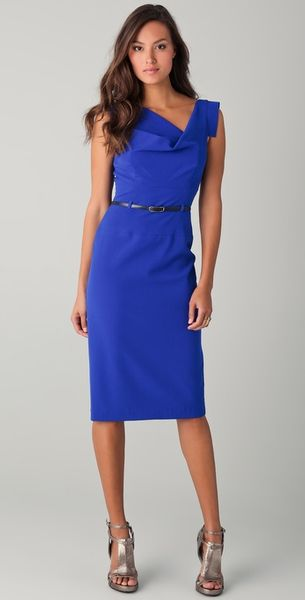 Black Halo Jackie O Belted Dress - Lyst