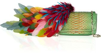 Christian Louboutin 20th Anniversary Artemis Plumes Python Shoulder Bag - Lyst