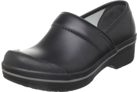 Dansko Womens Volley Box Leather Clog in Black (black box)