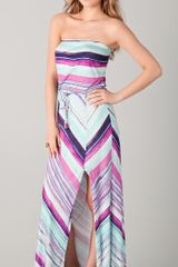 Ella Moss Strapless Maxi Dress - Lyst