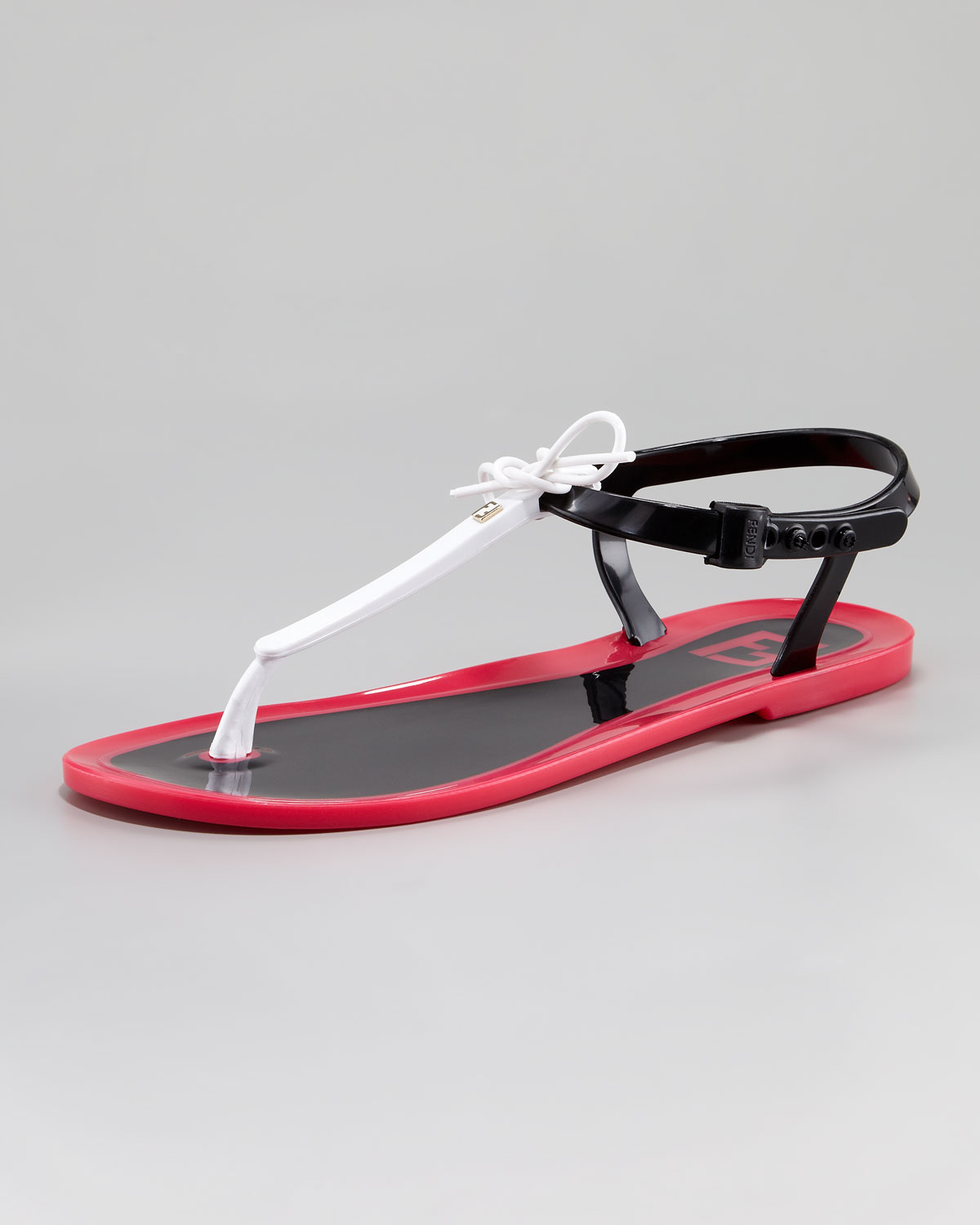 c6a8324a9184 Lyst - Fendi Jelly Flat Thong Sandal in Black
