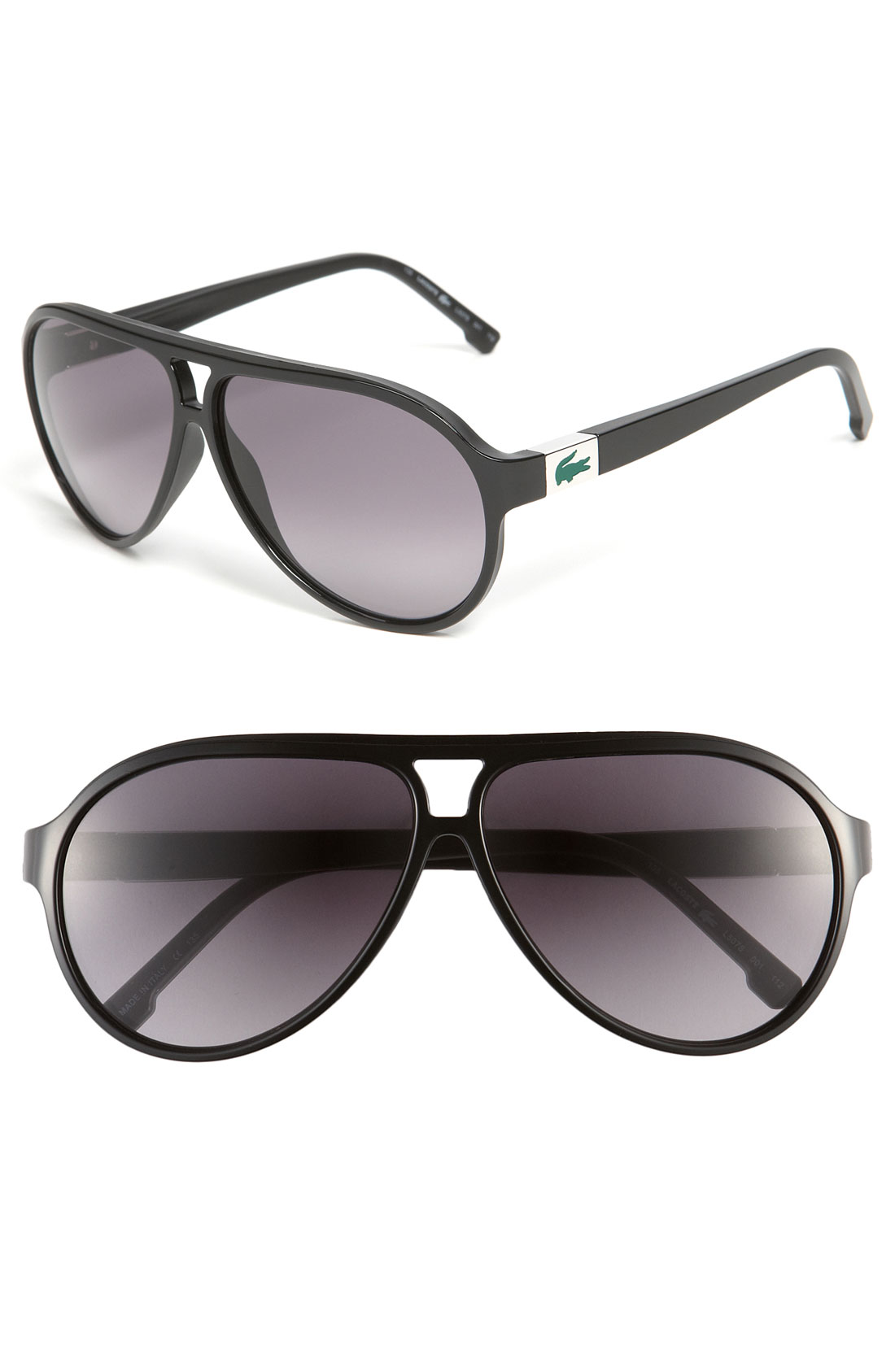f314fdeb6d8f Lacoste Aviator Sunglasses in Black for Men