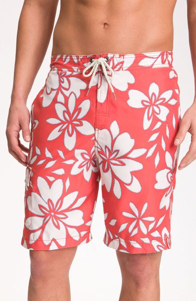 Tommy Bahama Stencil Me in Trunks in Red for Men (tangelo) - Lyst