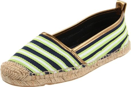 Tommy Hilfiger Hope Espadrille Flats in Green (blue/green) - Lyst