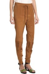 3.1 Phillip Lim Ankle Zip Pant in Brown (sienna) - Lyst