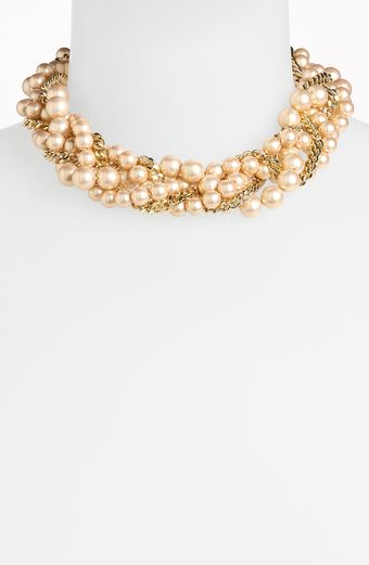 Givenchy Indus Glass Pearl Torsade Necklace - Lyst