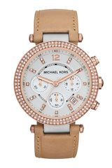 Michael Kors Parker Glitz Watch Rose Golden - Lyst
