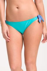 Splendid Side Tie Bikini Bottoms in Blue (foam/lilac) - Lyst