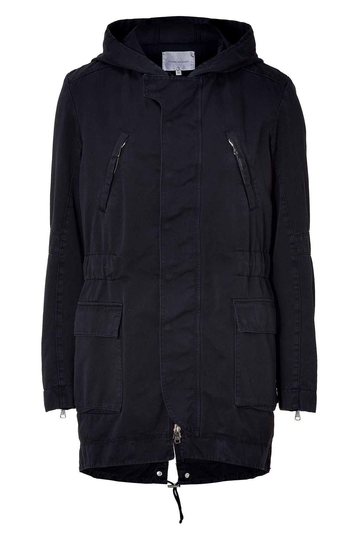 Balmain Antik Black Cotton Parka in Black for Men | Lyst