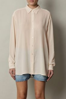 Acne Shining Sheer Blouse - Lyst