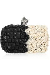 Alexander McQueen Punk Shell Embellished Box Clutch - Lyst
