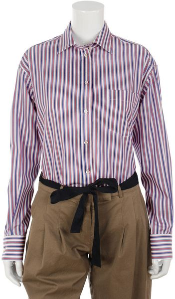 Alexander Mcqueen Striped Shirt in Multicolor - Lyst