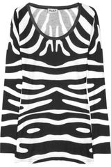 Alice By Temperley Printed Cotton Blend Jersey Top - Lyst
