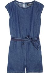 A.P.C. Washed Denim Playsuit