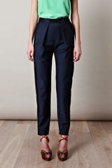 Balenciaga High Waist Bicolour Trousers - Lyst
