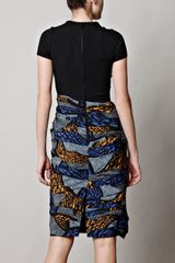 Burberry Prorsum Africanprint Dress in Black - Lyst