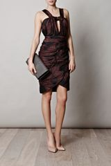 Burberry Prorsum Overdyed Print Dress in Black - Lyst