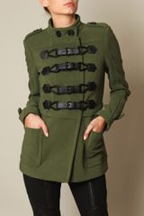 Burberry Prorsum Montague Cotton and Wool Jacket in Green (grey) - Lyst