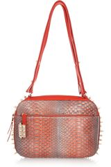Christian Louboutin Roxane Studded Python Shoulder Bag - Lyst