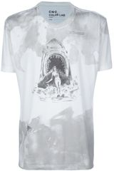 C'n'c' Costume National Printed Tshirt in Gray for Men (nude) - Lyst