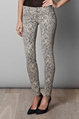 Current/Elliott Pythonprint Jeans - Lyst