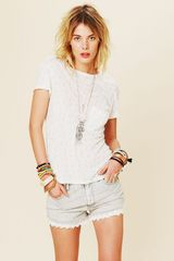 Free People Lacey Denim Cutoff Shorts - Lyst