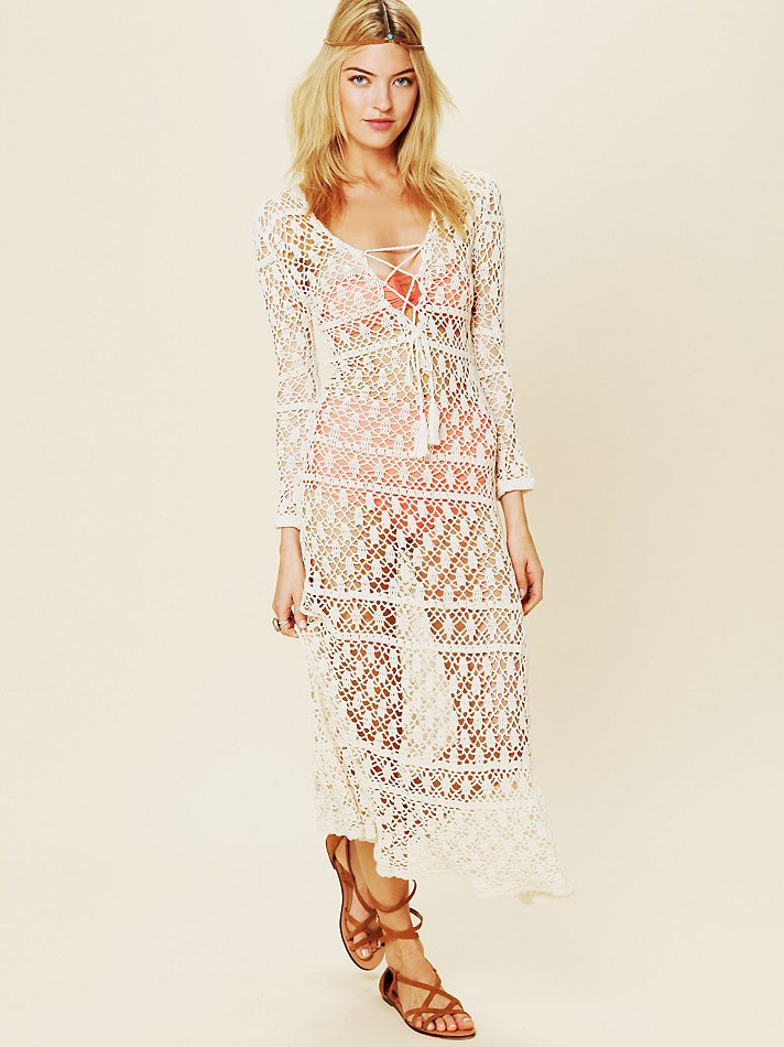 Lyst Free People To The Max Crochet Dress In White