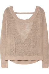 Inhabit Cutout Open Knit Linen Blend Sweater - Lyst