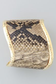 Kenneth Jay Lane Snake Print Wave Cuff - Lyst