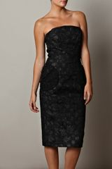 Marc Jacobs Strapless Lace Dress - Lyst