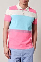 Marc Jacobs Blockcolour Knitted Polo Top in Pink for Men - Lyst
