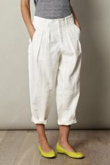 Marc Jacobs Cotton Linen Trousers - Lyst