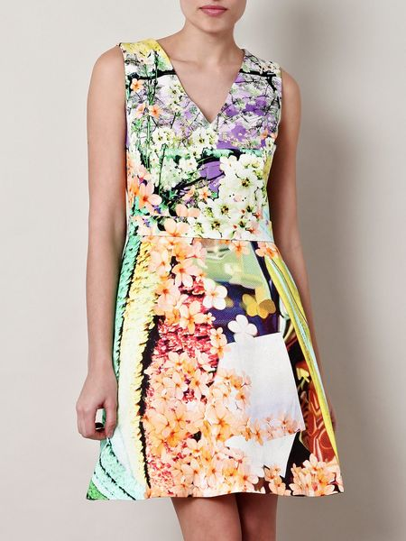 Mary Katrantzou Balalaika Floral Dress in Floral - Lyst