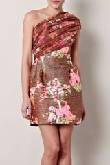 Matthew Williamson Neon Blossom Weave Dress - Lyst