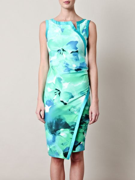 Max Mara Perugia Dress in Blue (green) - Lyst