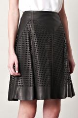 McQ by Alexander McQueen Lattice Lasercut Skirt - Lyst