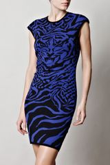 McQ by Alexander McQueen Tigerprint Dress - Lyst