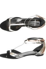 Pierre Hardy Suede and Metallic Leather Sandals - Lyst