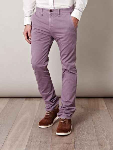 Rag & Bone Chino Trousers in Purple for Men (lilac) - Lyst