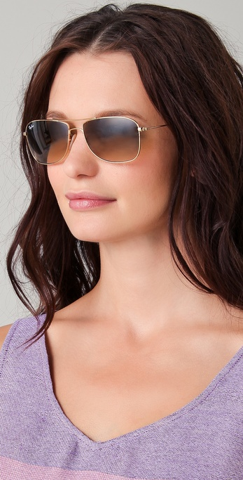 Lyst Ray Ban Cockpit Evolution Aviator Sunglasses In
