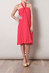 Weekend By Maxmara Girone Dress in Red (cherry) - Lyst