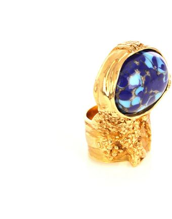 Yves Saint Laurent Arty Oval Ring - Lyst