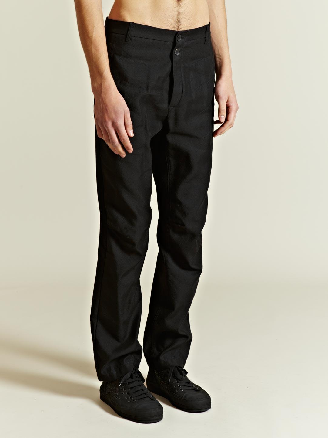 Ann demeulemeester Mens Prestige Linen Trousers in Black for Men ...