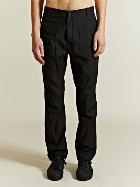Black Linen Trousers Mens Linen Trousers in Black