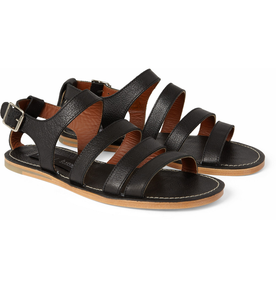 c6aa182c448b Lyst - B Store Cisco Leather Sandals in Black for Men