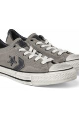 Converse John Varvatos Canvas and Leather Sneakers in Gray for Men - Lyst