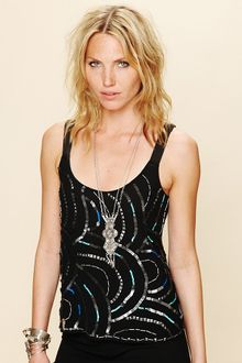 Free People Sequin Cami - Lyst