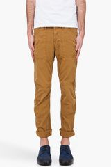 G-star Raw Beige 3d Tapered Chinos - Lyst