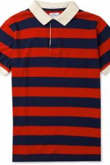 Gant Rugger Striped Fineknit Cotton Polo Shirt - Lyst
