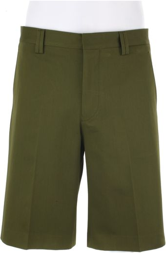 Givenchy Grass Green Cotton Twill Shorts - Lyst